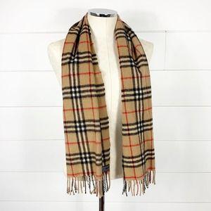 Burberry Vintage Nova Check Cashmere Wool Scarf